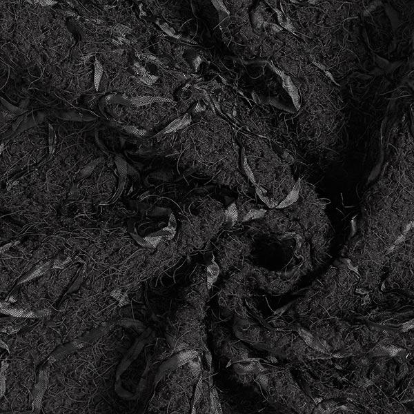 Tissu peluche brodé – noir