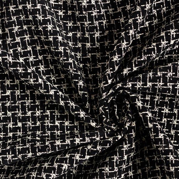 Jacquard Velours dévoré Labyrinthe – noir/blanc