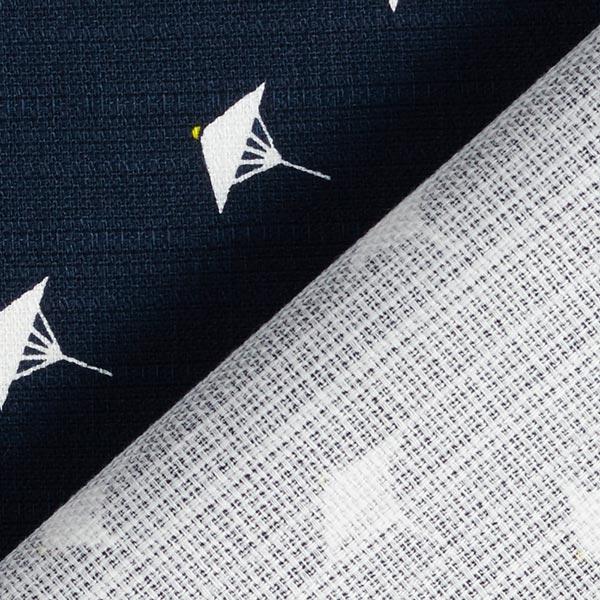 Coton légèrement élastique Petits parasols – noir/blanc