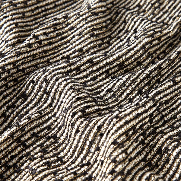 Tissu bouclé Lurex-Glamour – noir/or