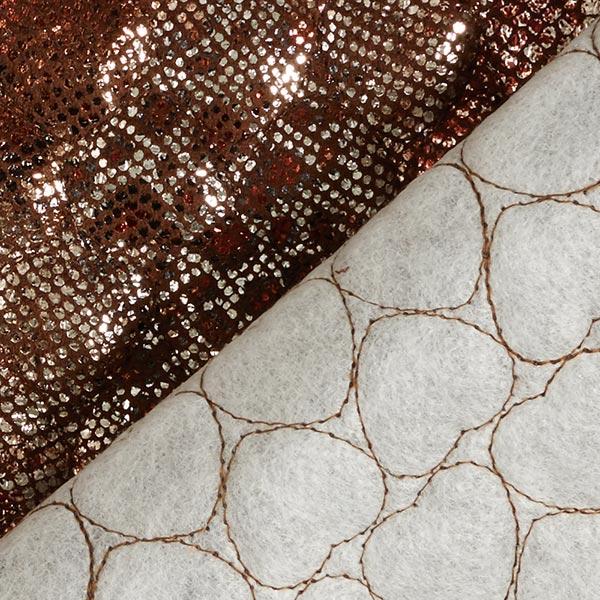 Tissu matelassé Imitation daim Imprimé serpent scintillant – marron