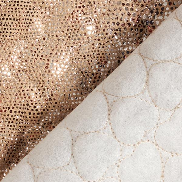 Tissu matelassé Imitation daim Imprimé serpent scintillant – beige