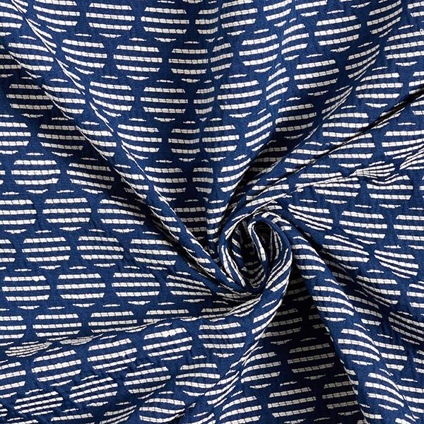 Jacquard d'habillement Cercles – bleu/écru