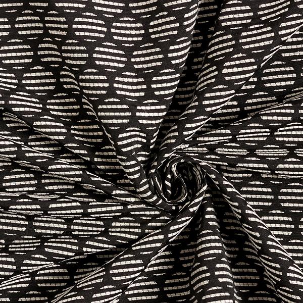 Jacquard d'habillement Cercles – anthracite/écru