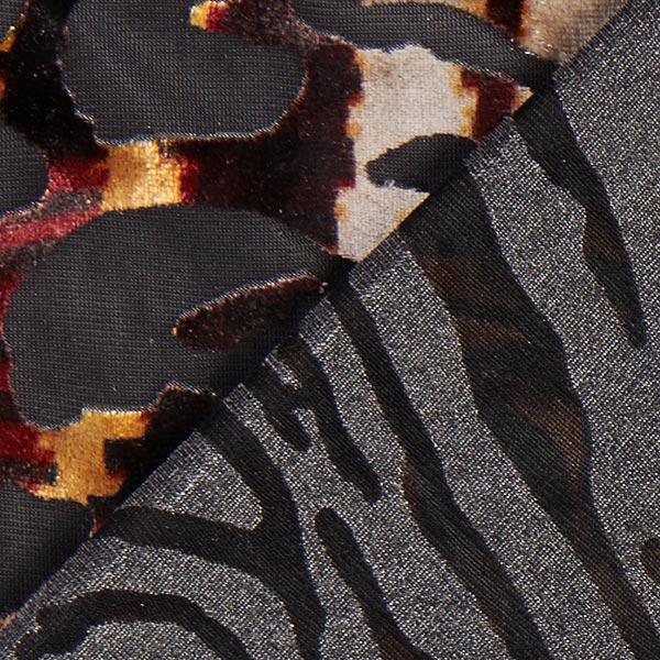 Tissu jersey dévoré Animal – noir