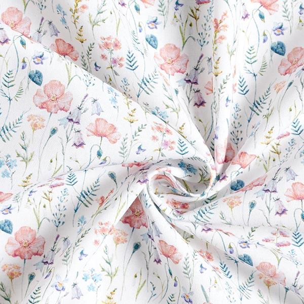Tissu de décoration Popeline coton Fleurs des champs