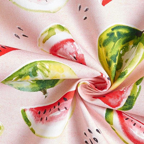 Tissu de décoration Sergé coton Pastèques – rose/vert