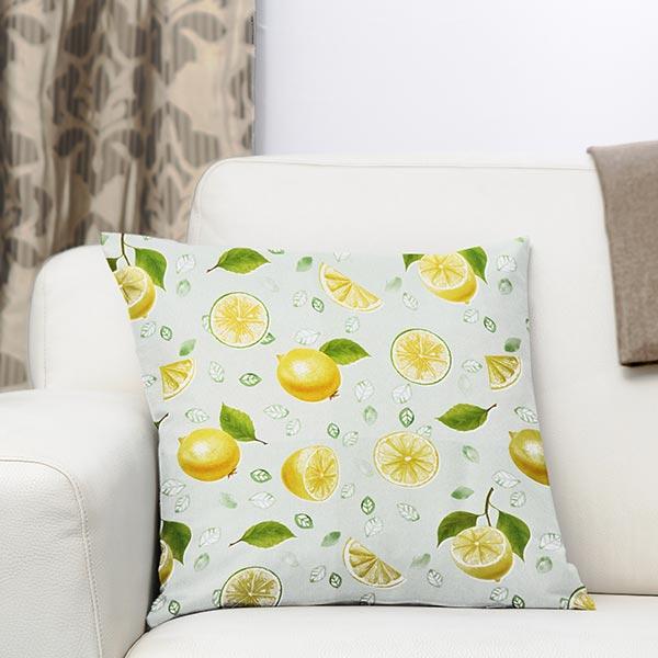 Dekostoff Baumwollköper Zitronen – hellgrün/gelb