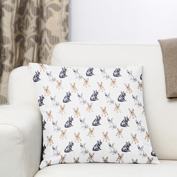 Tissu de décoration Popeline coton Bulldog français