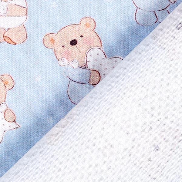 Cretonne baby bear – bleu clair