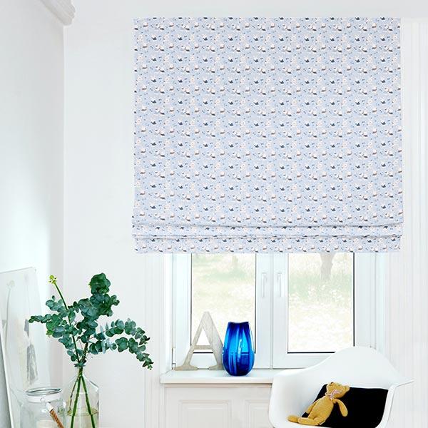 Tissu en coton Cretonne Bébé Lapin – bleu clair