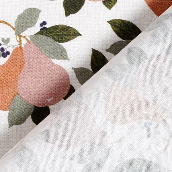 Popeline coton Poires – vieux rose/roseau