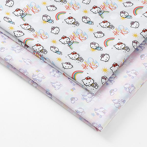 Cretonne Tissu sous licence «Hello Kitty» L'amour des licornes   Sanrio GmbH – rosé