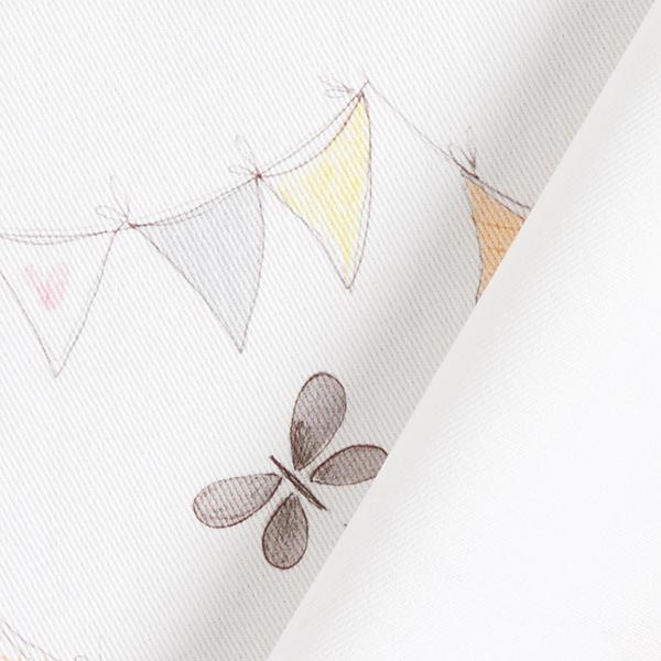 Tissu de décoration coton Guirlande de fanions – blanc