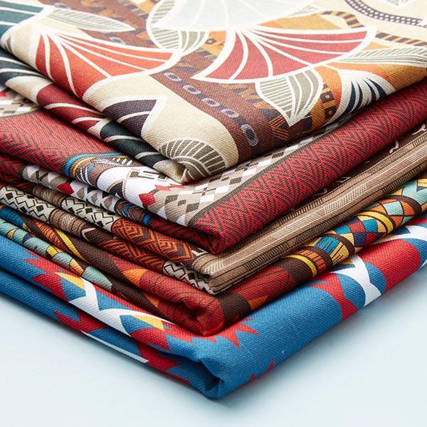 Tissu de décoration semi-panama Limbera – rouge/orange