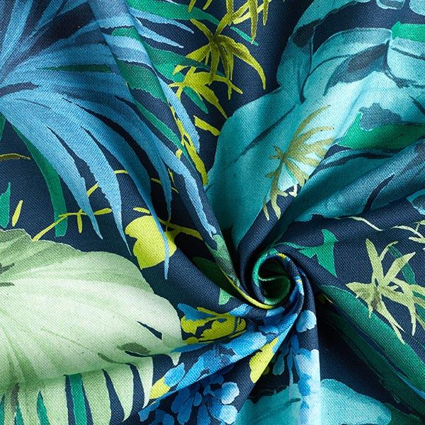 Tissu de décoration semi-panama Polinesia – bleu/vert