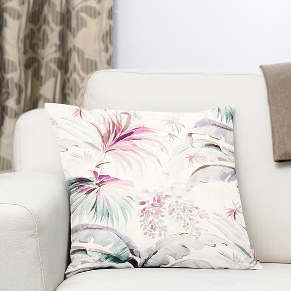 Tissu de décoration semi-panama Apia – beige/rose