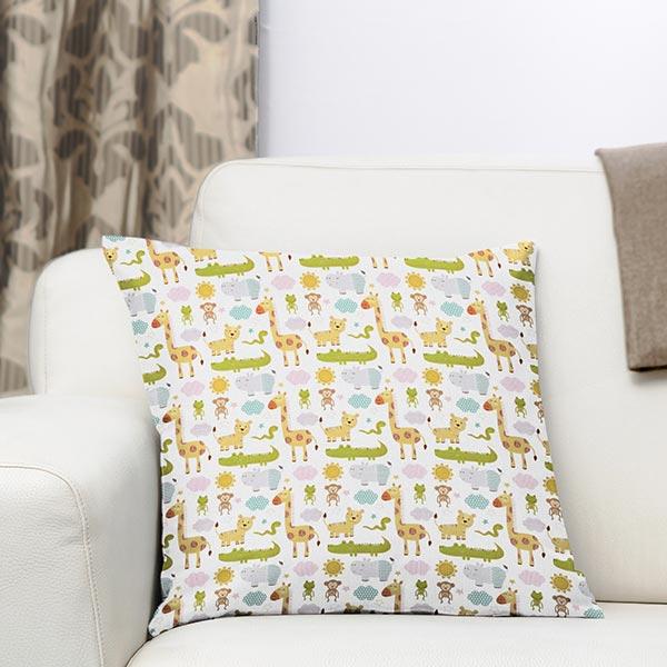 Tissu de décoration cretonne Savane – blanc
