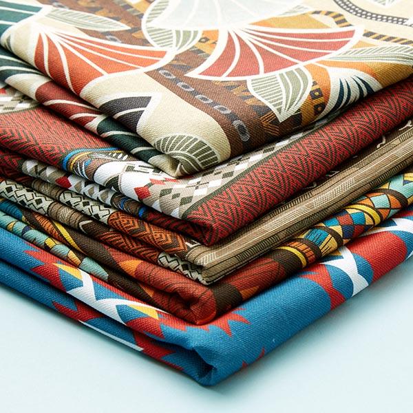 Tissu de décoration semi-panama Sarabi – beige/marron