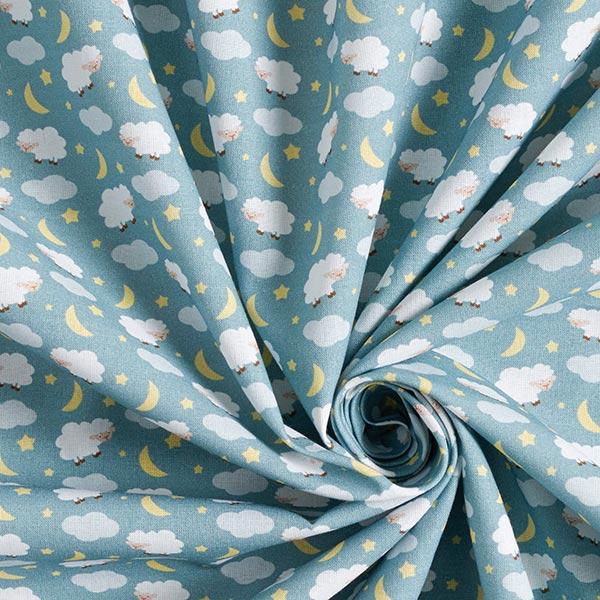 Tissu de décoration cretonne Compter les moutons – roseau