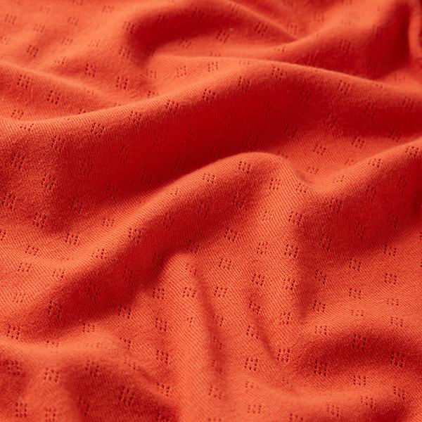 Jersey maille fine Motif à trous – terre cuite