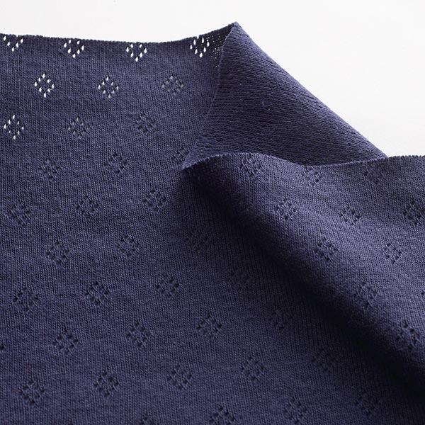 Jersey finement tricoté à motif ajouré – bleu marine