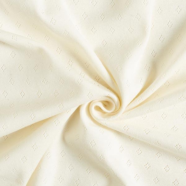 Jersey finement tricoté à motif ajouré – écru