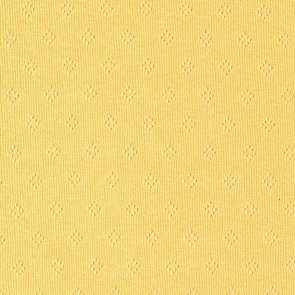 Jersey finement tricoté à motif ajouré – moutarde
