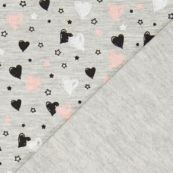 Jersey coton Sweetheart 1 – gris