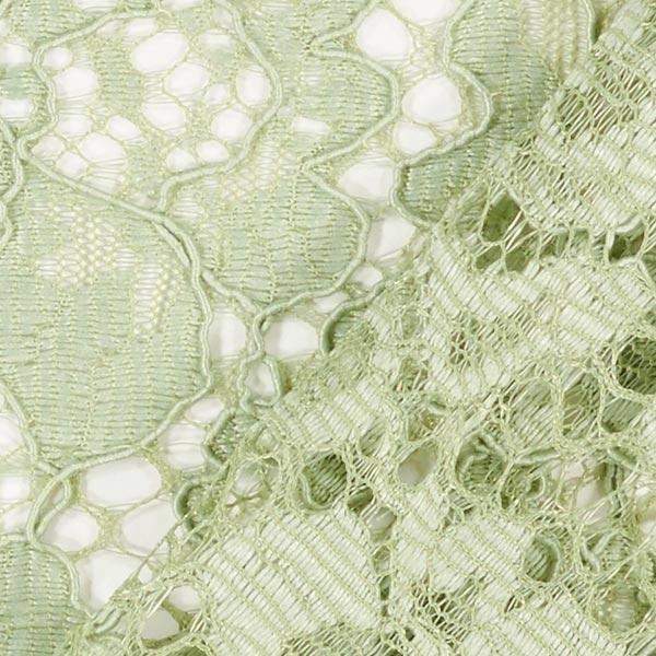 Dentelle stretch Camelia – vert pastel