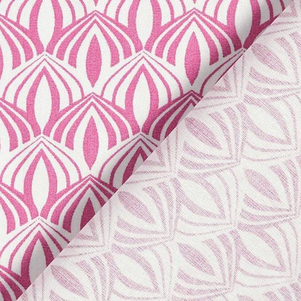 Popeline coton Arcs rétro – baies/blanc