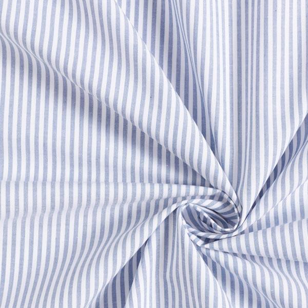 Popeline coton Rayures, teints en fil – bleu jean/blanc