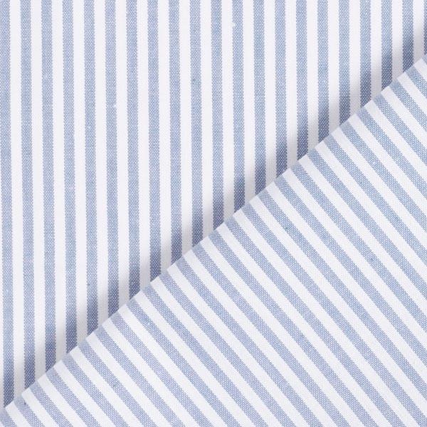 Baumwollpopeline Streifen, garngefärbt – jeansblau/weiss