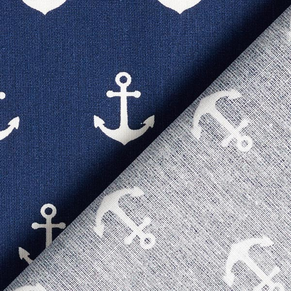 Tissu en coton Ancres – bleu marine | by Poppy