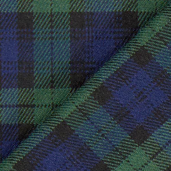 Carreau écossais Stretch – bleu marine/vert
