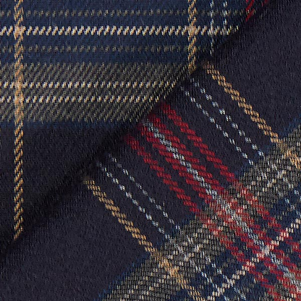 Carreau écossais Stretch – navy/rouge