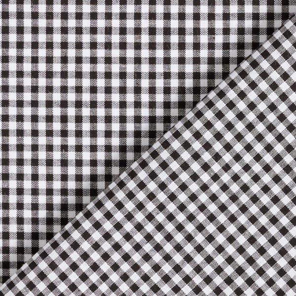 Popeline coton Petit carreaux Vichy, teints en fil – noir/blanc
