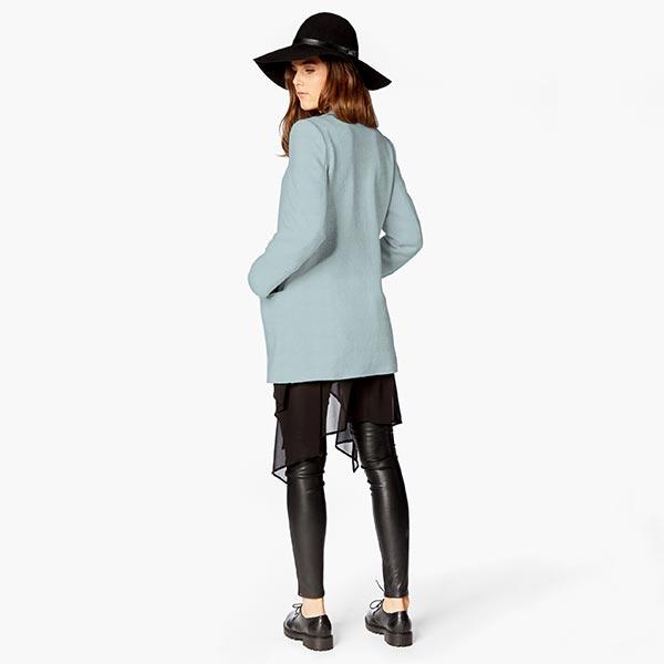 Tissu de manteau Eloy – bleu clair