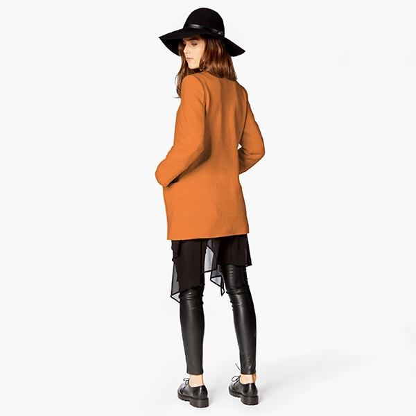 Tissu de manteau Eloy – marron clair