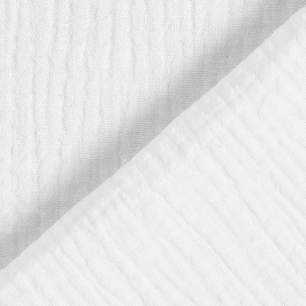 Tula Mousseline / Tissu double crêpe GOTS – blanc