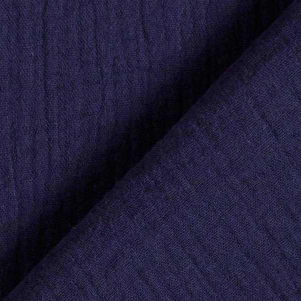 Tula Mousseline / Tissu double crêpe GOTS – bleu marine