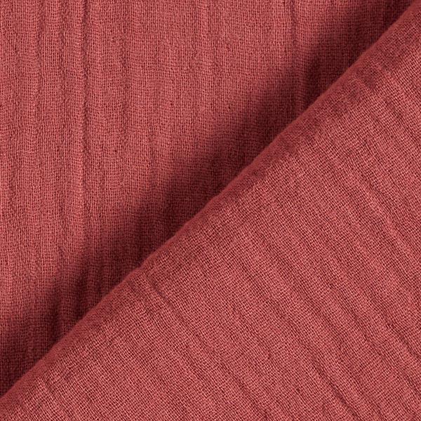 Mousseline / Tissu double crêpe GOTS – rouge rouille