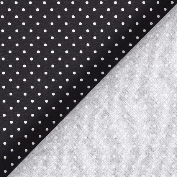 Popeline coton Petits pois – noir/blanc