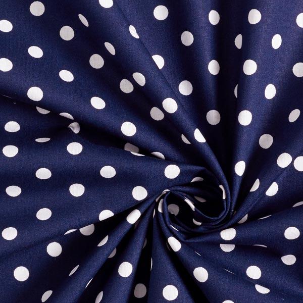 Baumwollpopeline große Punkte – marineblau/weiss