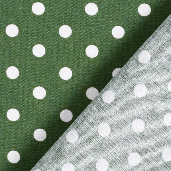 Popeline coton Grands pois – vert foncé/blanc
