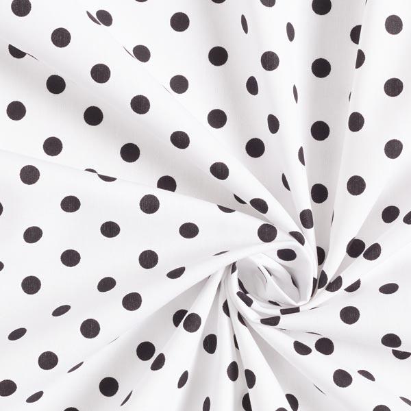 Popeline coton Grands pois – blanc/noir