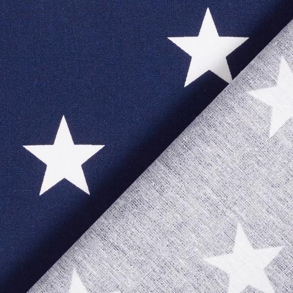 Popeline coton Grandes étoiles – bleu marine/blanc