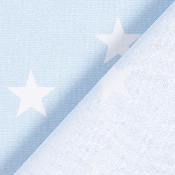 Popeline coton Grandes étoiles – bleu clair/blanc