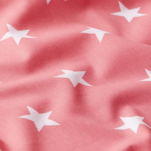 Popeline coton Grandes étoiles – rose/blanc