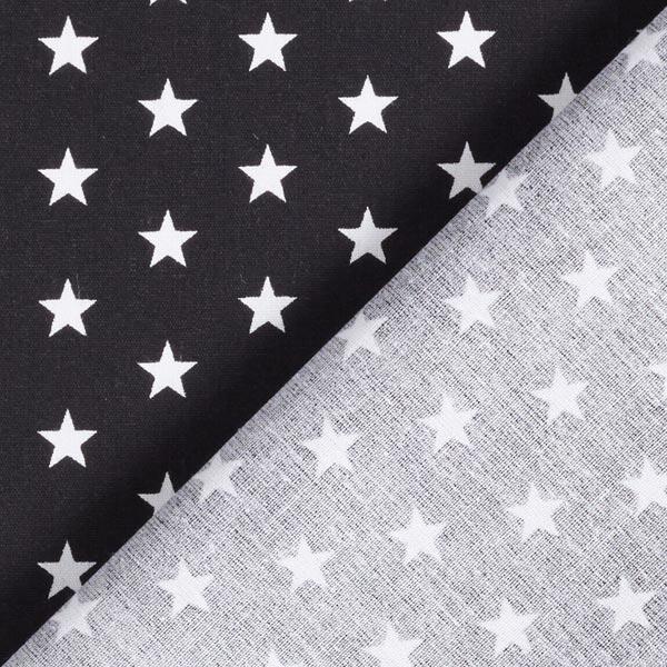 Popeline coton Moyens étoiles – noir/blanc
